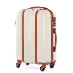 FERGÉ Handgepäck-Koffer MILANO ABS Dure-Flex camel-beige Reisekoffer Kabinen-Trolley 4 Rollen Handgepäck-Koffer Hartschale 2