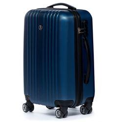 FERGÉ Handgepäck 55 cm erweiterbar Hartschale royal-blau Reisekoffer Kabinentrolley 4 Zwillingsrollen 360° Handgepäck-Koffer Hartschale 55 cm 2