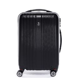 FERGÉ carry-on trolley TOULOUSE  suitcase hard shell trolley expandable carry-on black ABS cabin hand luggage 4 spinner wheels