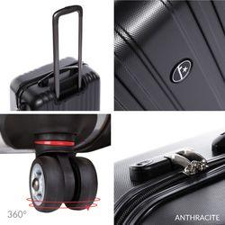 FERGÉ Handgepäck erweiterbar TOULOUSE ABS Dure-Flex schwarz Reisekoffer Kabinen-Trolley 4 Rollen Handgepäck-Koffer Hartschale erweiterbar 5