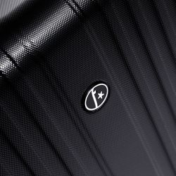 FERGÉ Handgepäck erweiterbar TOULOUSE ABS Dure-Flex schwarz Reisekoffer Kabinen-Trolley 4 Rollen Handgepäck-Koffer Hartschale erweiterbar 3