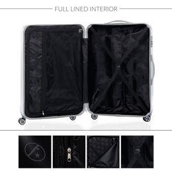 FERGÉ 3er Kofferset erweiterbar TOULOUSE ABS Dure-Flex Burgundrot 3er Hartschalenkoffer Roll-Koffer 4 Rollen Kofferset Hartschale 3-teilig erweiterbar 7