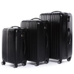 FERGÉ 3er Kofferset erweiterbar TOULOUSE ABS Dure-Flex schwarz 3er Hartschalenkoffer Roll-Koffer 4 Rollen Kofferset Hartschale 3-teilig erweiterbar 2