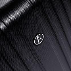 FERGÉ 3er Kofferset erweiterbar TOULOUSE ABS Dure-Flex schwarz 3er Hartschalenkoffer Roll-Koffer 4 Rollen Kofferset Hartschale 3-teilig erweiterbar 3