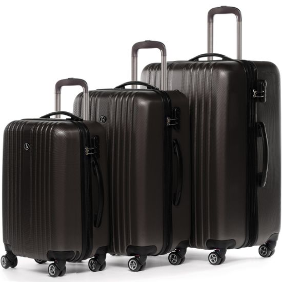 FERGÉ 3er Kofferset erweiterbar ABS Dure-Flex TOULOUSE café 3er Hartschalenkoffer Roll-Koffer 4 Rollen Kofferset Hartschale 3-teilig erweiterbar | Taschen > Koffer & Trolleys | FERGÉ