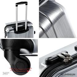 FERGÉ Großer Koffer Dijon ABS & PC graphite-metallic Hartschalenkoffer Trolley 4 Rollen Großer Koffer Hartschale 3