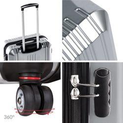 FERGÉ Handgepäck-Koffer CANNES Bordgepäck-Koffer leicht carry-on ABS & PC Koffer Leicht Reisekoffer Kabinentrolley 4 Zwillingsrollen (360°) 8