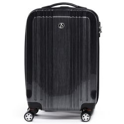 FERGÉ carry-on trolley CANNES -xb-03-20- suitcase hard-top case ABS&PC - graphite-wire