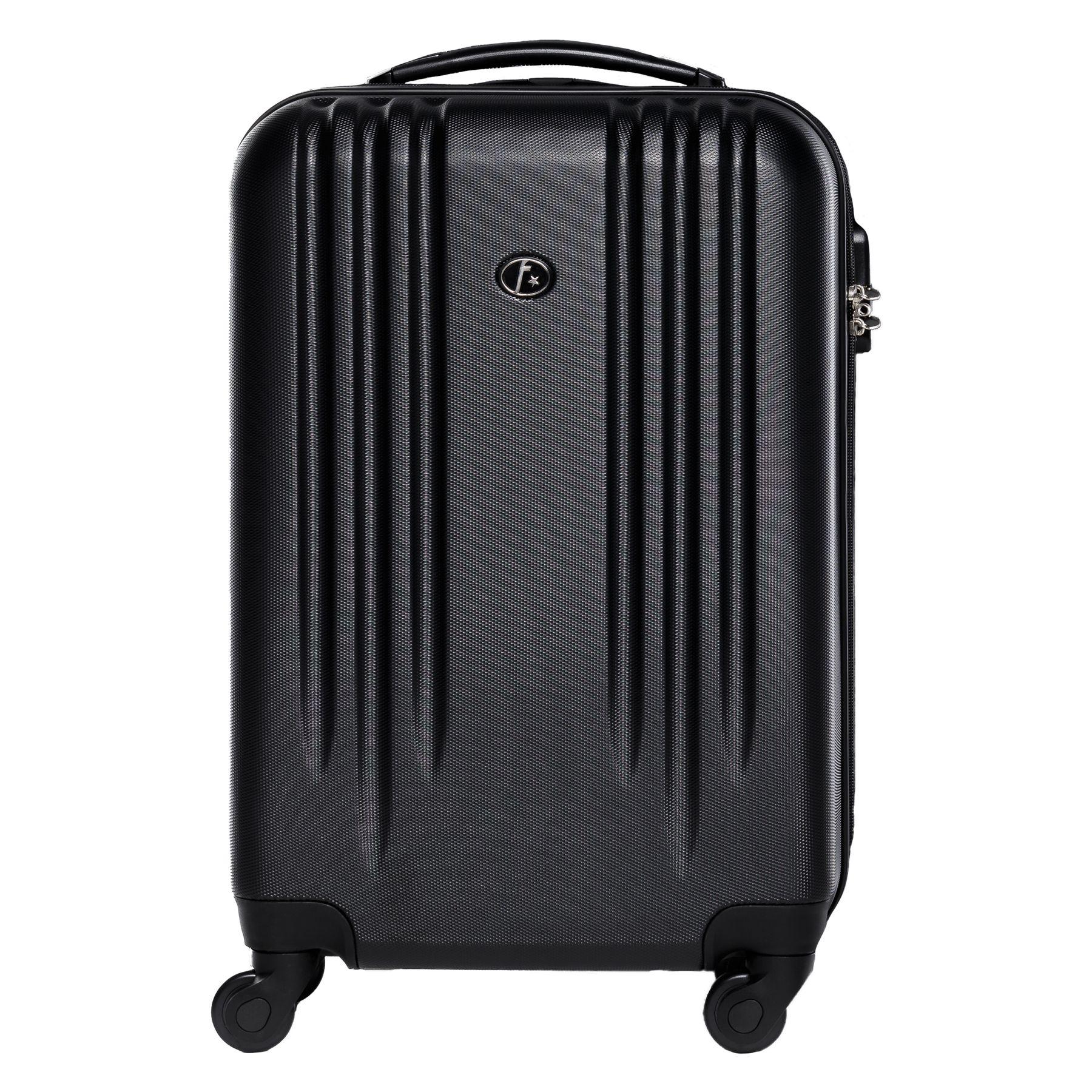 handgep ck hartschalen koffer trolley kabinen bordgep ck 55cm 4 rollen schwarz ebay. Black Bedroom Furniture Sets. Home Design Ideas