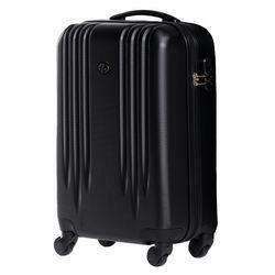 FERGÉ Handgepäck-Koffer Marseille ABS Dure-Flex schwarz Reisekoffer Kabinen-Trolley 4 Rollen Handgepäck-Koffer Hartschale 2