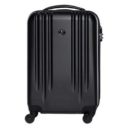 FERGÉ carry-on trolley Marseille  suitcase hard shell trolley carry-on black ABS cabin hand luggage 4 spinner wheels
