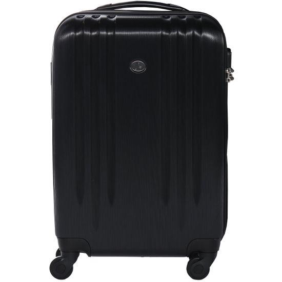 FERGÉ Handgepäck-Koffer Hartschale Marseille Kabinen-Trolley 4 Rollen Schwarz   Taschen > Koffer & Trolleys > Sonstige Koffer   FERGÉ