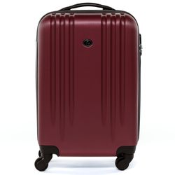 FERGÉ carry-on trolley Marseille -XB-06-20- suitcase hard-top case ABS - burgundy