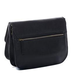 SID & VAIN Umhängetasche Premium Smooth schwarz Handtasche Schultergurt Schultertasche 3
