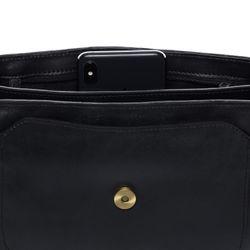 SID & VAIN Umhängetasche Premium Smooth schwarz Handtasche Schultergurt Schultertasche 4