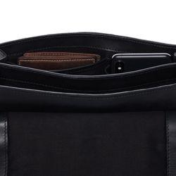 SID & VAIN Umhängetasche Premium Smooth schwarz Handtasche Schultergurt Schultertasche 5