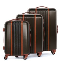 luggage set 3 piece MILANO ABS