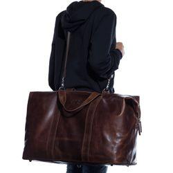 SID & VAIN Reisetasche Natur-Leder braun-cognac Sporttasche groß Reisetasche 5