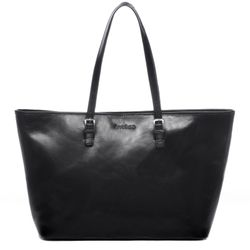 FEYNSINN Laptoptasche GRACE Premium Smooth schwarz Businesstasche Laptoptasche