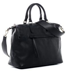 Baccini Handtasche PAULINE Premium Smooth schwarz Henkeltasche Handtasche mit Schultergurt 3