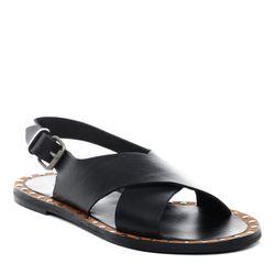 BACCINI sandale cuir noir nu-pieds claquette
