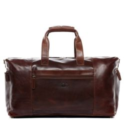 Travel bag holdall  BRISTOL SIDE Natural Leather