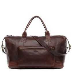 Travel bag holdall  BRIXTON Natural Leather