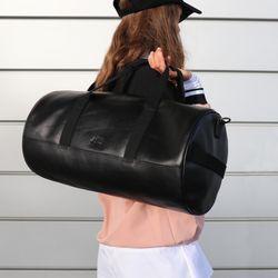 SID & VAIN Sporttasche FINLAY Premium Smooth schwarz Reisetasche Sporttasche 5