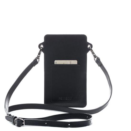FEYNSINN Handy Brustbeutel Echtleder STINE schwarz Umhängetasche | Accessoires > Portemonnaies > Brustbeutel | FEYNSINN