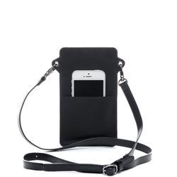 FEYNSINN Handy Brustbeutel STINE Premium Smooth schwarz Umhängetasche Brustbeutel 3