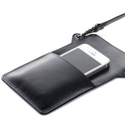 FEYNSINN Handy Brustbeutel STINE Premium Smooth schwarz Umhängetasche Brustbeutel 5