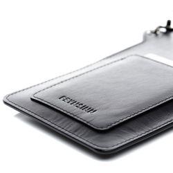 FEYNSINN Handy Brustbeutel STINE Premium Smooth schwarz Umhängetasche Brustbeutel 6