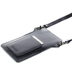 FEYNSINN Handy Brustbeutel STINE Premium Smooth schwarz Umhängetasche Brustbeutel 2