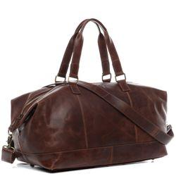 SID & VAIN sac de voyage cuir marron fourre-tout besace week-end sac sport bagages cabine à main
