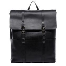 FEYNSINN XL Rucksack VAL Premium Smooth schwarz Backpack Tagesrucksack Kurierrucksack Fahrradrucksack Rucksack