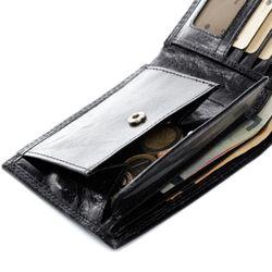 SID & VAIN Geldbeutel JACK Anilin-Leder schwarz Brieftasche Geldbeutel 7