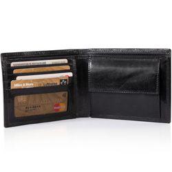 SID & VAIN Geldbeutel JACK Anilin-Leder schwarz Brieftasche Geldbeutel 2