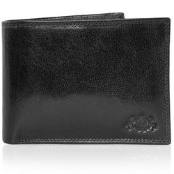 SID & VAIN Geldbeutel JACK Anilin-Leder schwarz Brieftasche Geldbeutel