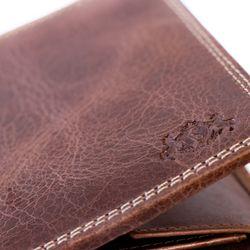SID & VAIN Geldbörse Distressed Leder vintage-braun Brieftasche Geldbeutel 3