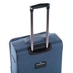 FERGÉ 3er Kofferset erweiterbar Saint-Tropez Denim-Style grau und dunkelgrau 3er Stoffkoffer Roll-Koffer 4 Rollen Kofferset Weichschale 3-teilig erweiterbar 3