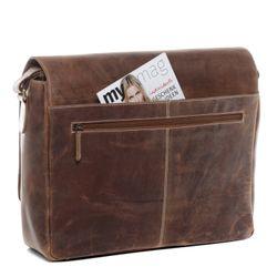 SID & VAIN Messenger Laptoptasche SPENCER Büffelleder hellbraun Businesstasche Laptoptasche Messenger Bag 4