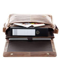SID & VAIN Messenger Laptoptasche SPENCER Büffelleder hellbraun Businesstasche Laptoptasche Messenger Bag 3