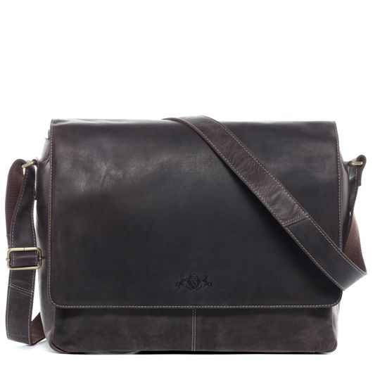 SID & VAIN Messenger Laptoptasche Echtleder SPENCER braun Businesstasche | Taschen > Businesstaschen > Aktentaschen | SID & VAIN