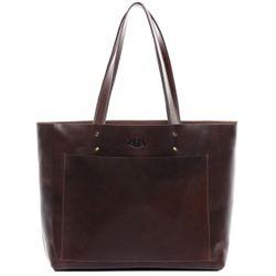 SID & VAIN Handtasche PIPER Premium Smooth braun Ledertasche Handtasche