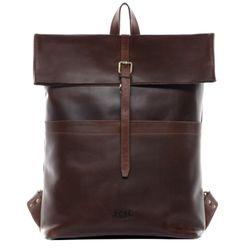 SID & VAIN Rucksack Glattleder braun Backpack Tagesrucksack Kurierrucksack Rucksack 3