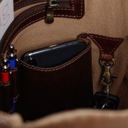 SID & VAIN Rucksack Glattleder braun Backpack Tagesrucksack Kurierrucksack Rucksack 5