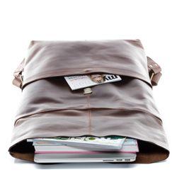 SID & VAIN Rucksack Glattleder braun Backpack Tagesrucksack Kurierrucksack Rucksack 8