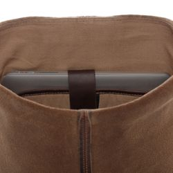 SID & VAIN Rucksack Glattleder braun Backpack Tagesrucksack Kurierrucksack Rucksack 7