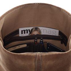 SID & VAIN Rucksack Glattleder braun Backpack Tagesrucksack Kurierrucksack Rucksack 4