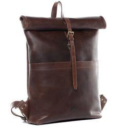 SID & VAIN Rucksack Glattleder braun Backpack Tagesrucksack Kurierrucksack Rucksack 2